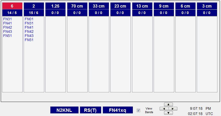 N2KNL-ARRL 1-2017 VHF Contest-N3FJP Software-bands